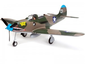 E-flite P-39 1.2m SAFE Select BNF Basic