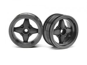 HPI felgi - MX60 Four Spoke Gunmetal (3mm offset)