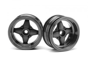 HPI felgi - MX60 Four Spoke Gunmetal (6mm offset)