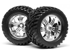 HPI Racing - MOUNTED GOLIATH TIRE 178x97mm on TREMOR WHEEL CHROME
