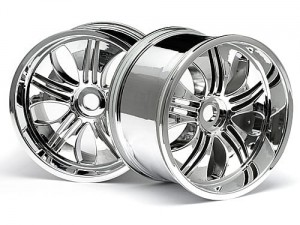 HPI Racing - TREMOR WHEEL CHROME (7INCH/2PCS 115X70MM)