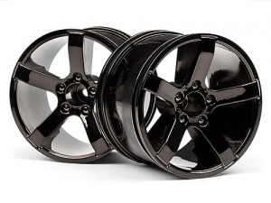 HPI Racing - Bullet MT Wheels Black Chrome (Pr)