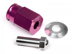 HPI Racing - ALUMINUM WIDE HEX HUB 12mm (24mm Wide/PURPLE)