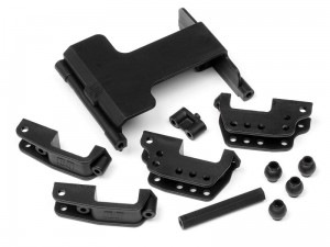 HPI Racing - SERVO MOUNT/HIGH LINK BRACKET SET
