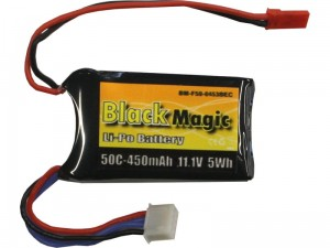 Black Magic 3S LiPo 11.1V 450mAh 50C JST