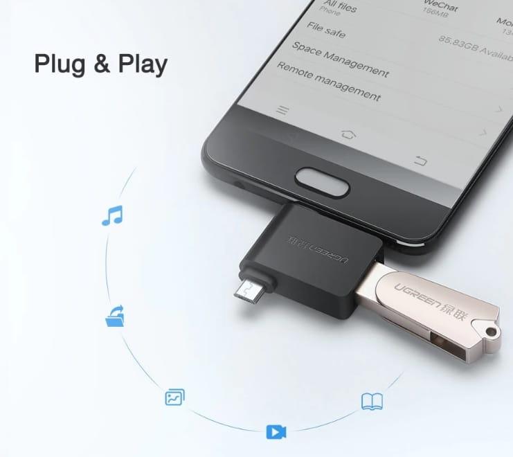 Adapter OTG USB A 3.0 do TYP C micro USB